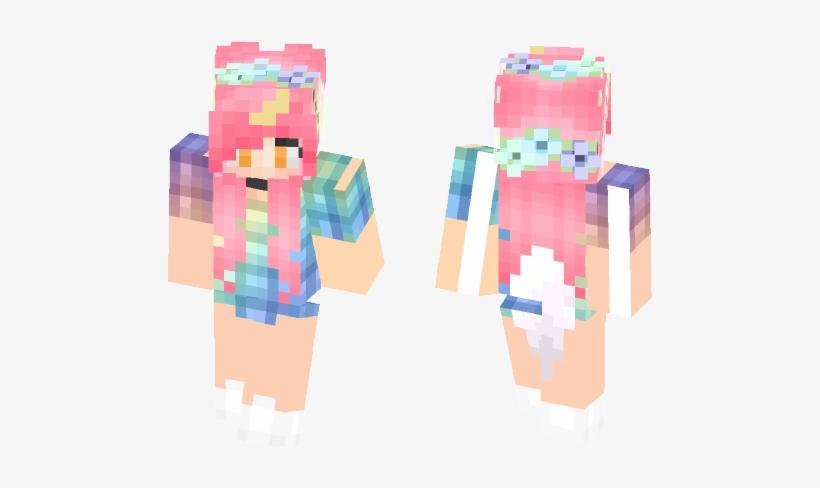 Kawaii Minecraft Skins Illustration 584x497 Png Download