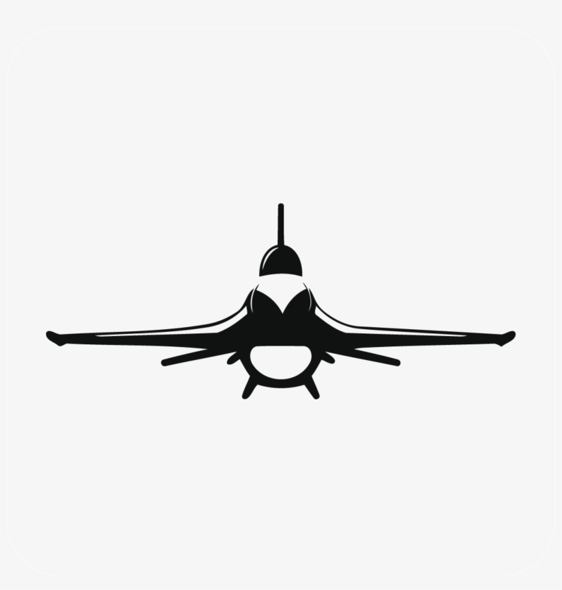 Fighter Jets World 12 Oct F 16 Silhouette 1051x1051 Png Download Pngkit