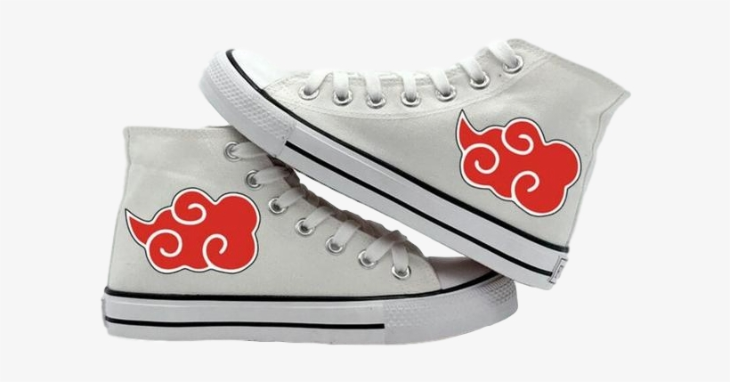 Akatsuki Red Clouds White Canvas Sneakers Hot Black Butler Cosplay High Canvas Shoes Leisure 600x600 Png Download Pngkit