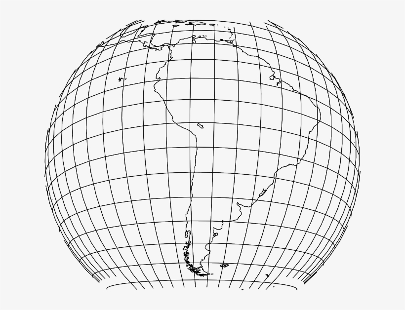 Global Earth Grid South America Continental World