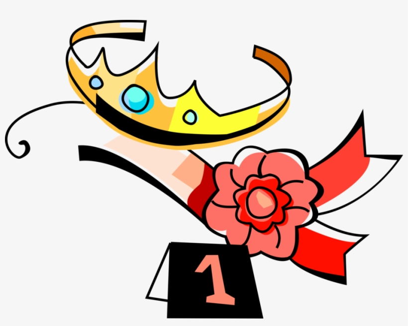 Vector Illustration Of Beauty Queen Tiara Crown And Beauty Pageant