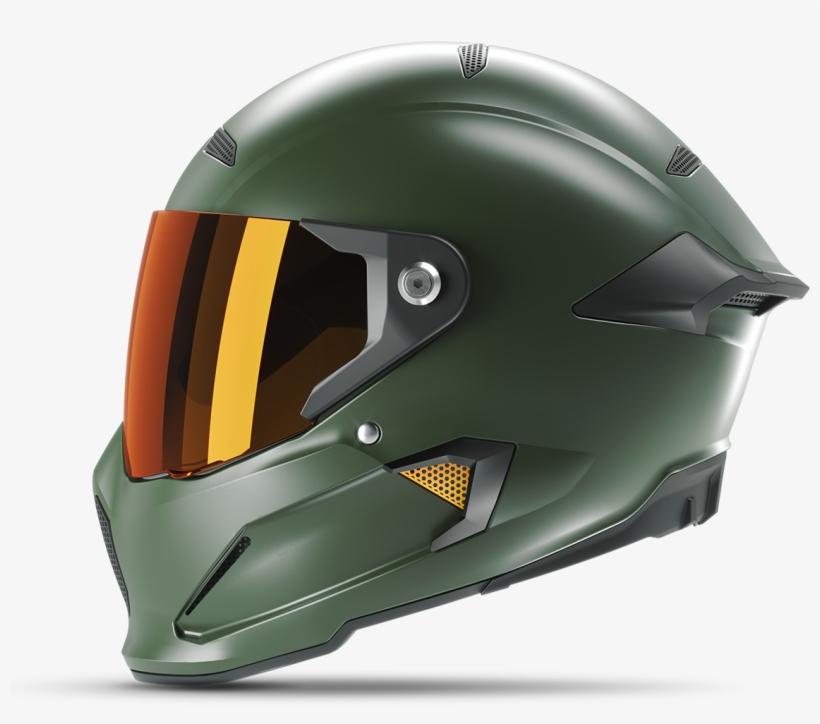 Master Chief Inspired Motorcycle Helmet Ruroc Atlas Ruroc