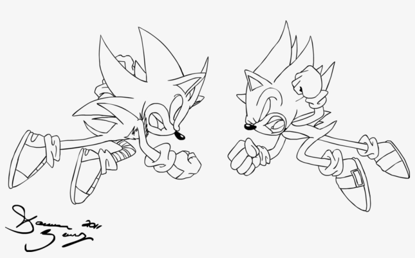 - Cm - Super Sonic Vs Super Shadow Coloring Pages - 1024x587 PNG Download -  PNGkit