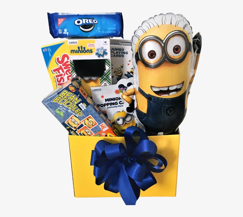 Deable Me Minion Gift Basket - Jelly Belly Beanboozled Spinner Minion Edition Jelly