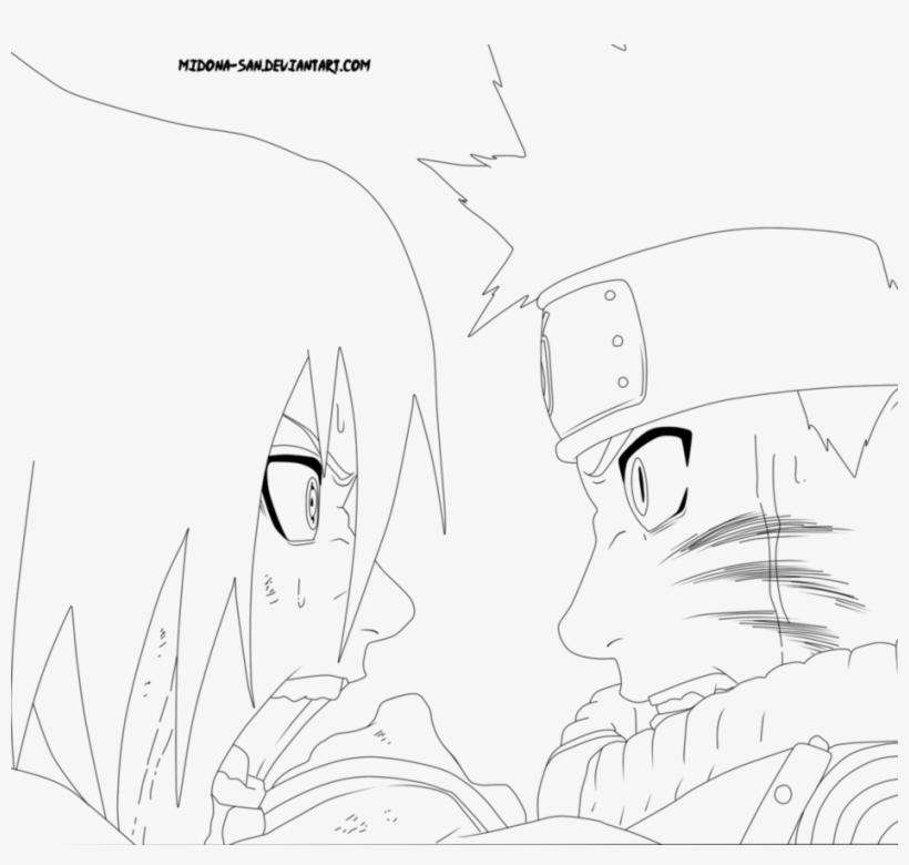 Naruto Vs Sasuke Lineart By Midona San - Naruto Vs Sasuke ...