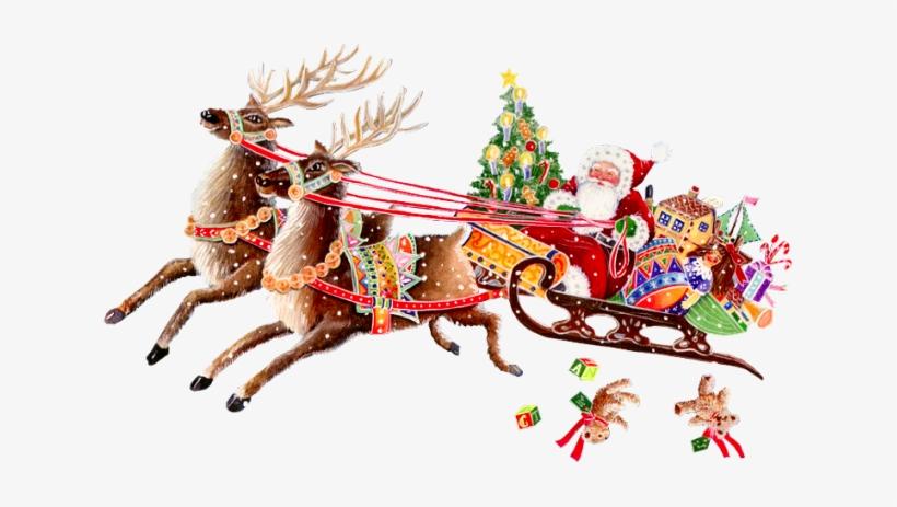 Natal E O Nascimento De Cristo Gif Anime Pere Noel Traineau 631x383 Png Download Pngkit