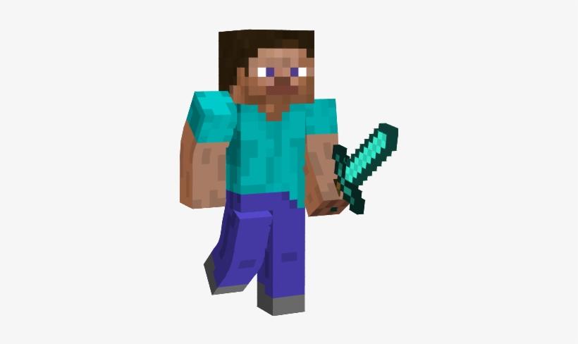 Minecraft Diamond Sword Png Minecraft Steve With Pickaxe