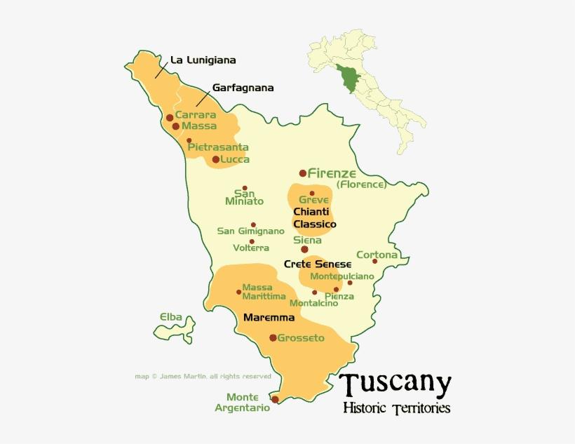 Tuscany Historic Territories Map - Tuscany Map Italy ...