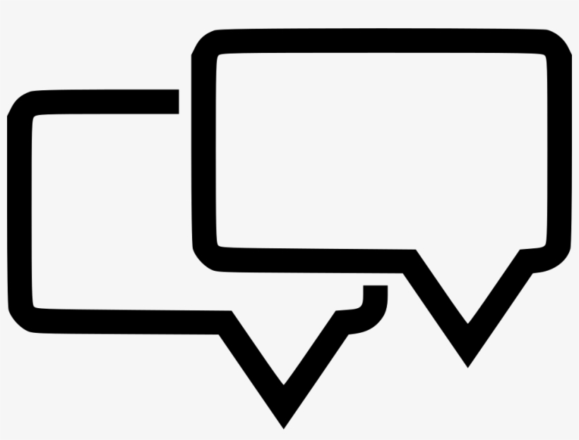 Two Chat Bubbles Icon 980x698 Png Download Pngkit