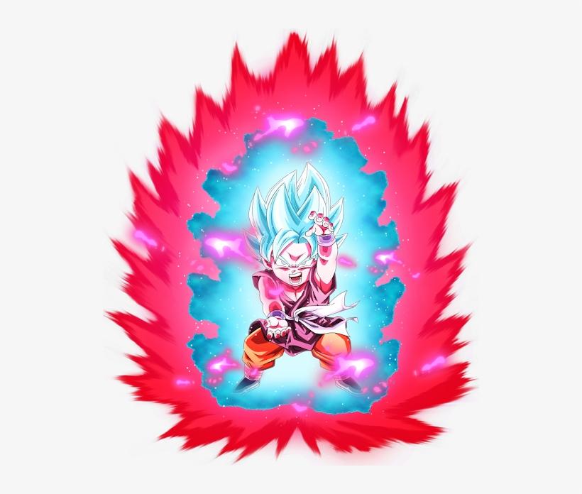 Photo Goku Ssj Blue Kaioken Chibi 530x616 Png Download