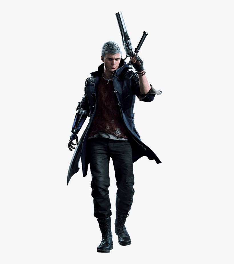Https Static Tvtropes Org Pmwiki Pub Images Devil May Cry 5 Nero Jacket 350x844 Png Download Pngkit