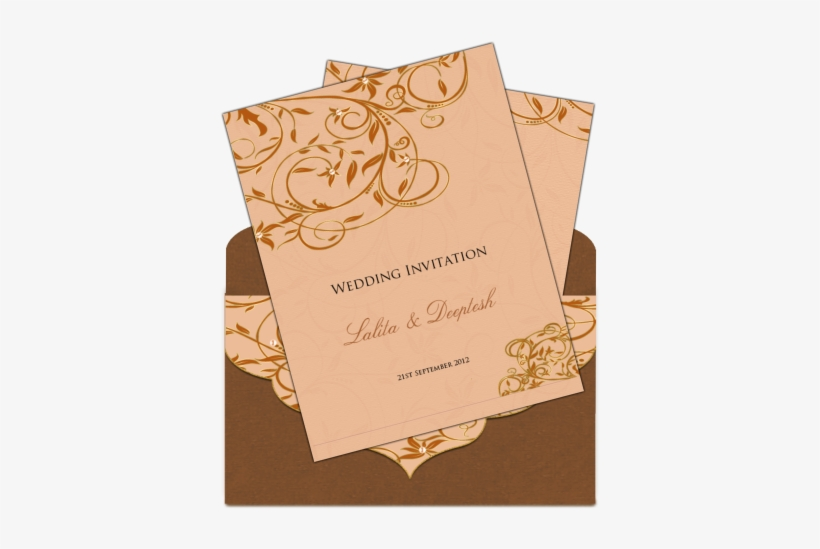 Indian Wedding Card Envelope Design Elegant Email Wedding Wedding Invitation Sample Indian 406x488 Png Download Pngkit