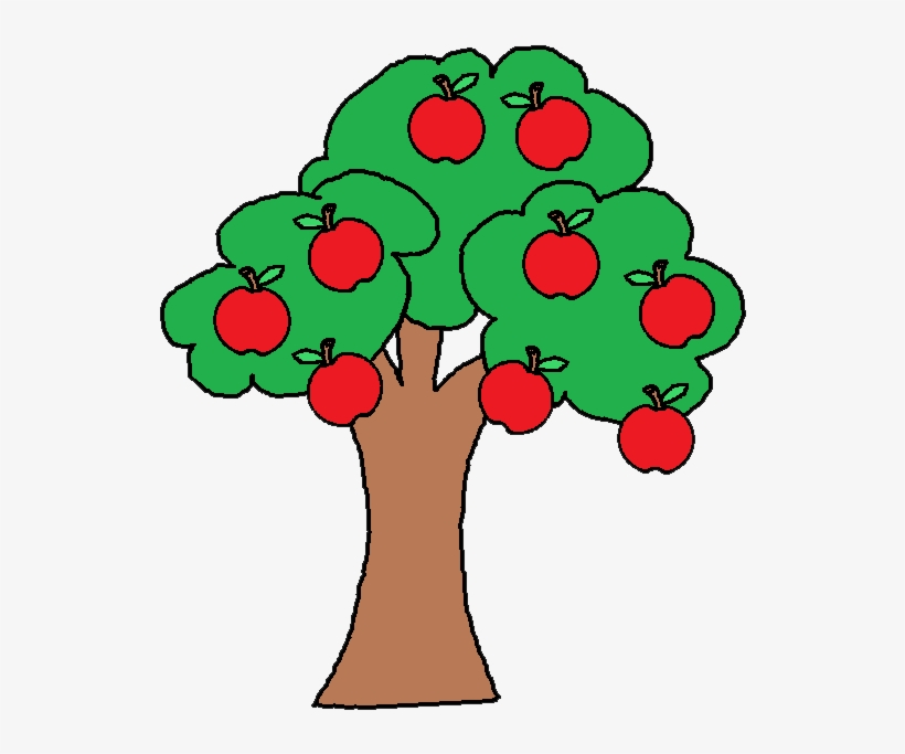 Svg Black And White Fruit Tree At Getdrawings Com Free Clip Art Apple Tree 542x622 Png Download Pngkit