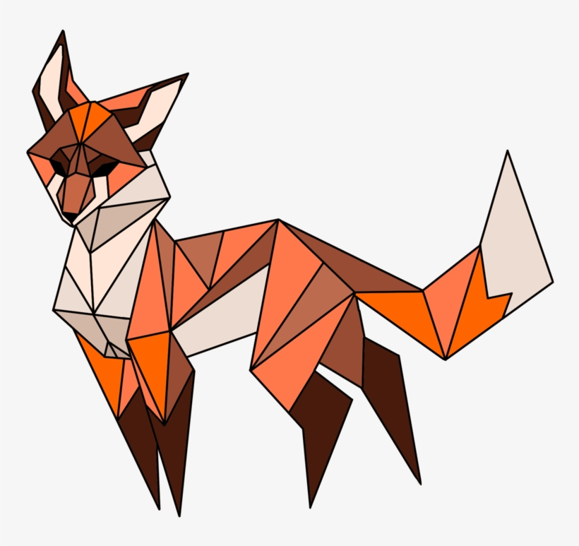 Geometric Vector Fox - Geometric Fox Transparent - 894x894