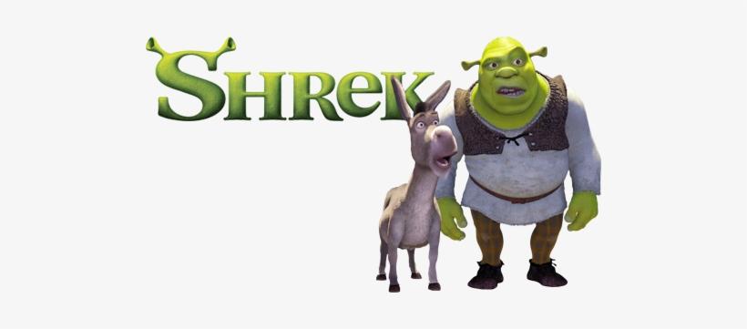 Shrek Movie Image With Logo And Character Shrek 1 Fanart 500x281 Png Download Pngkit