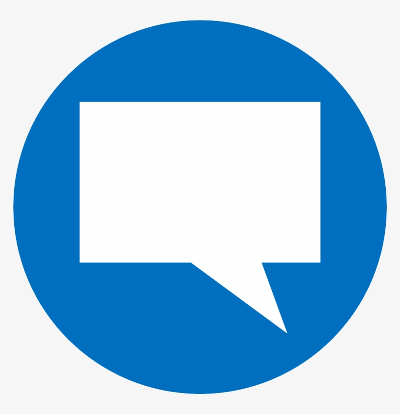 Vector Icon Of A Speech Bubble - Facebook Comments Icon Png