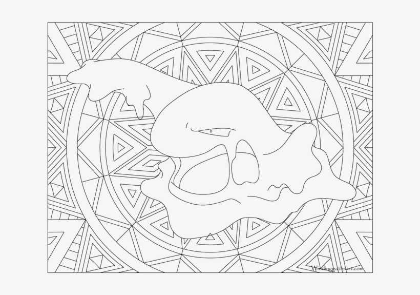 Muk Pokemon - Pikachu Coloring Pages Adult - 690x533 PNG ...