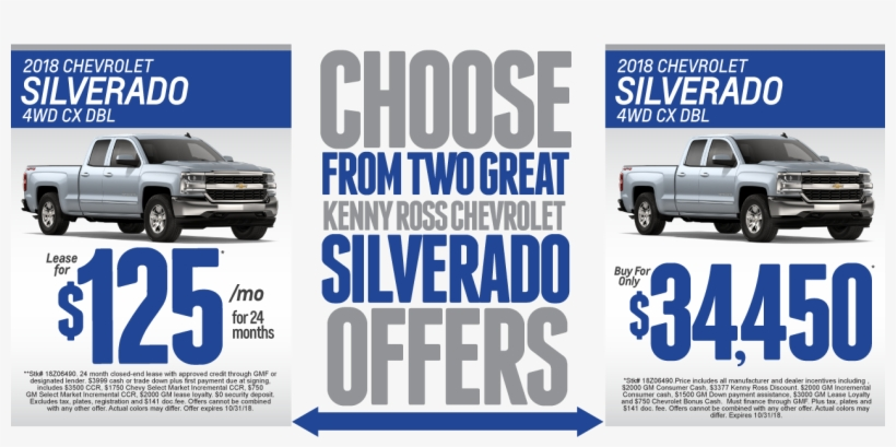 Kenny Ross Chevrolet >> 2018 Chevy Silverado Kenny Ross Chevrolet 1268x571 Png Download
