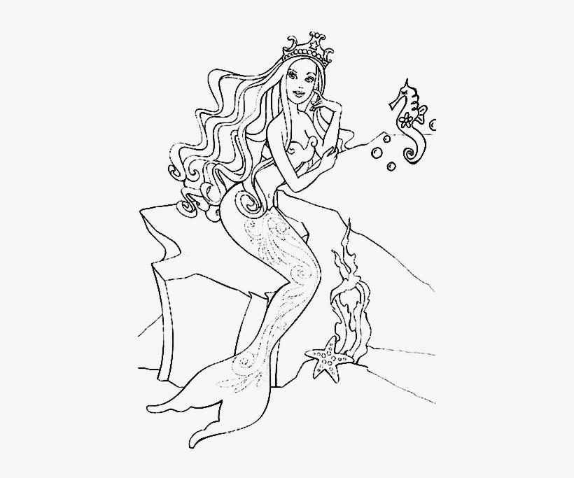 Barbie Colorea Dibujos Mermaid Princess Coloring Page 1024x768 Png Download Pngkit