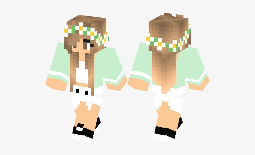 Cute Minecraft Skins For Girls Pe 528x418 Png Download Pngkit