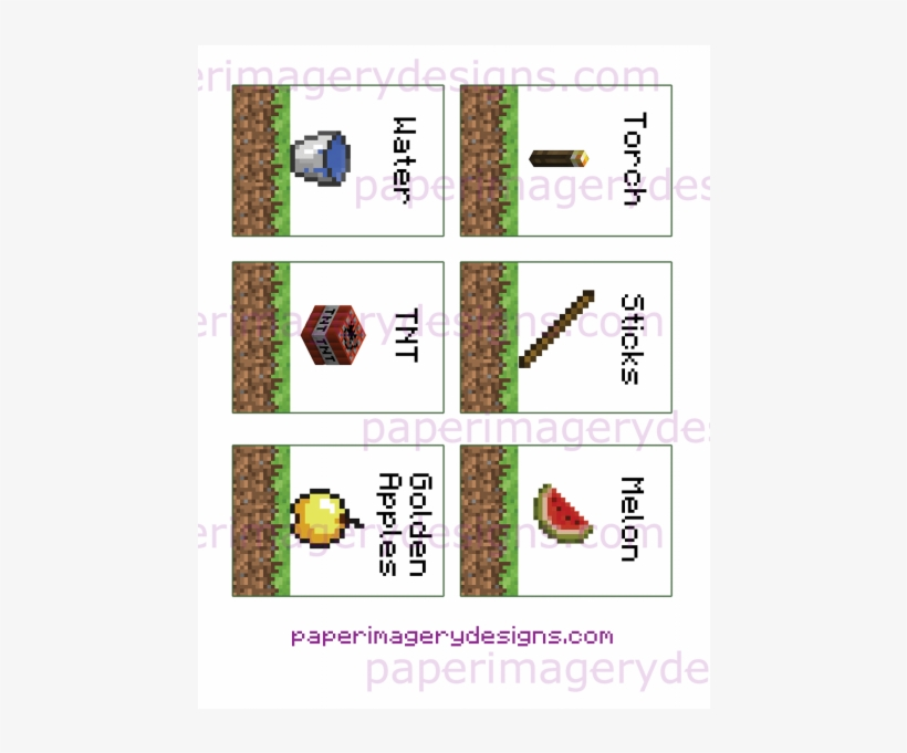 photograph about Minecraft Printable Food Labels named Fish Taco Clipart Minecraft - Minecraft Foods Labels H2o