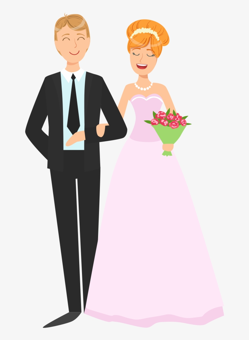 Couple Png Vector Wedding Couple Cartoon Png 1200x1200 Png Download Pngkit