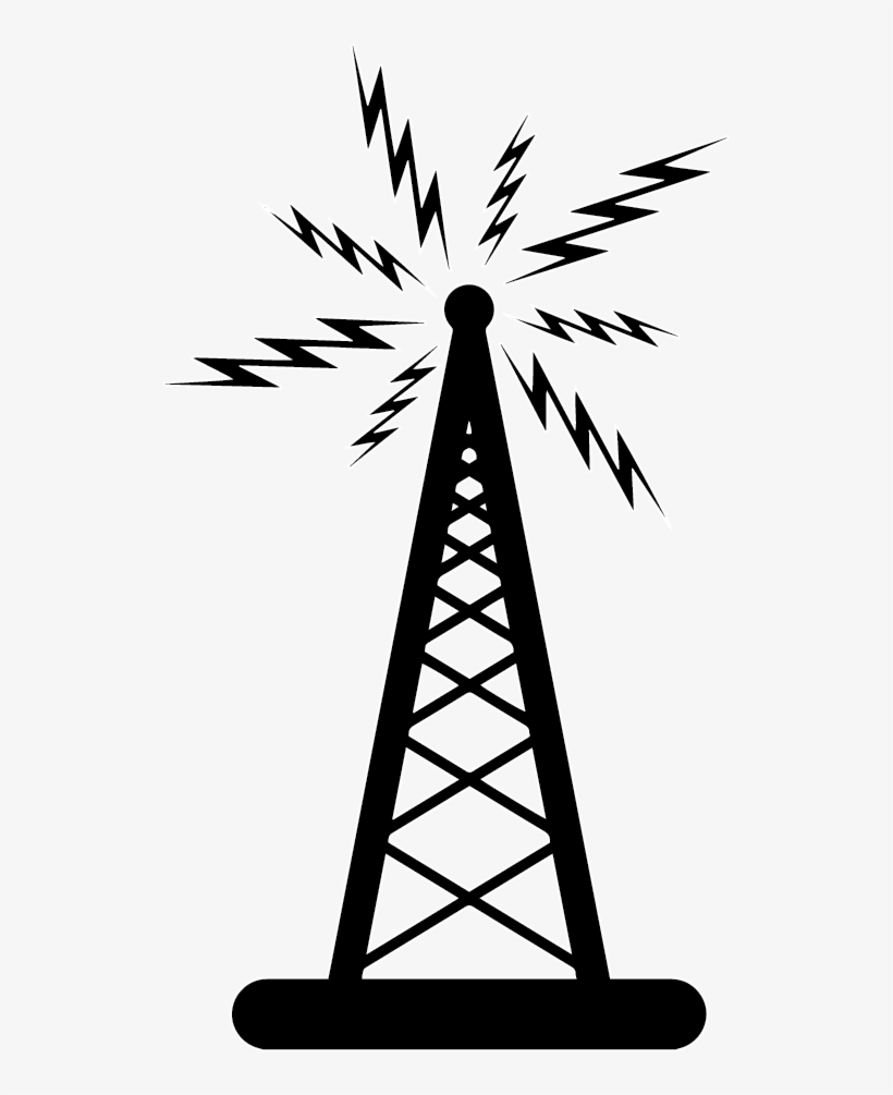 High Speed Internet In The Country - Radio Tower Vector
