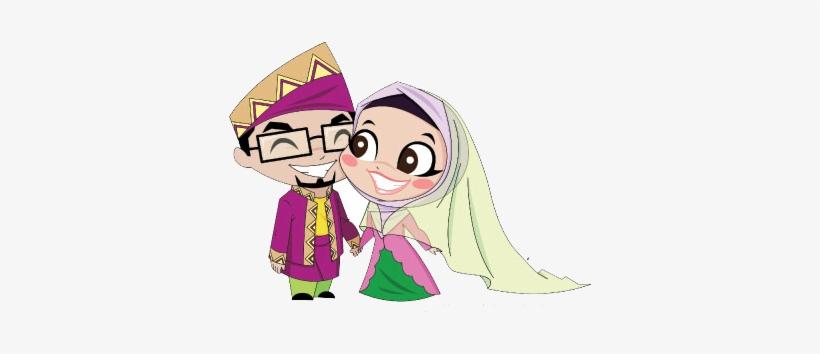 Mat So od And So odah Is A Pair Married Couple Islamic Cartoon
