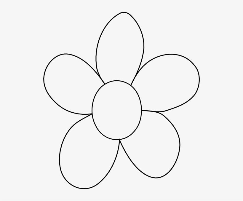 Flower Outline Printable Large Flower Coloring Sheets 528x598 Png Download Pngkit