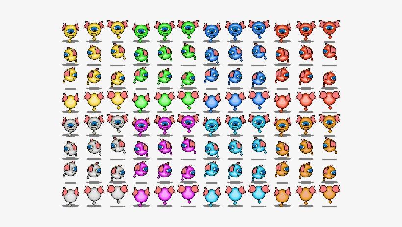 Float Eye Sheet Shadows - Rpg Maker Mv Monster Sprite