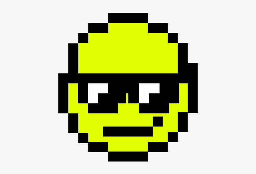 Cool Face Pixel Art Smiley 1000x1000 Png Download Pngkit