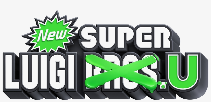 New Super Mario Bros U New Super Luigi U Logo 4153x1823 Png