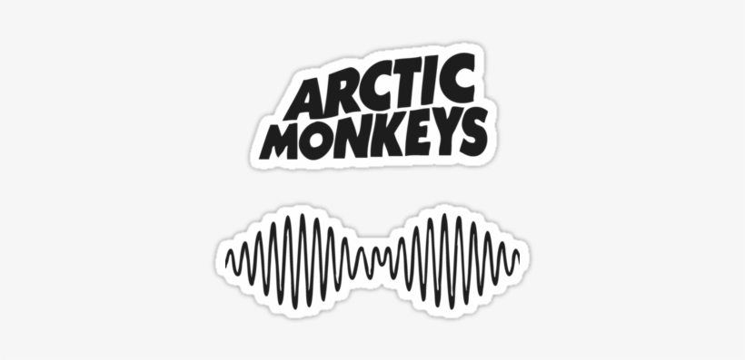 Arctic Monkeys Am Logo Sticker By Tavinci Domino Records Arctic