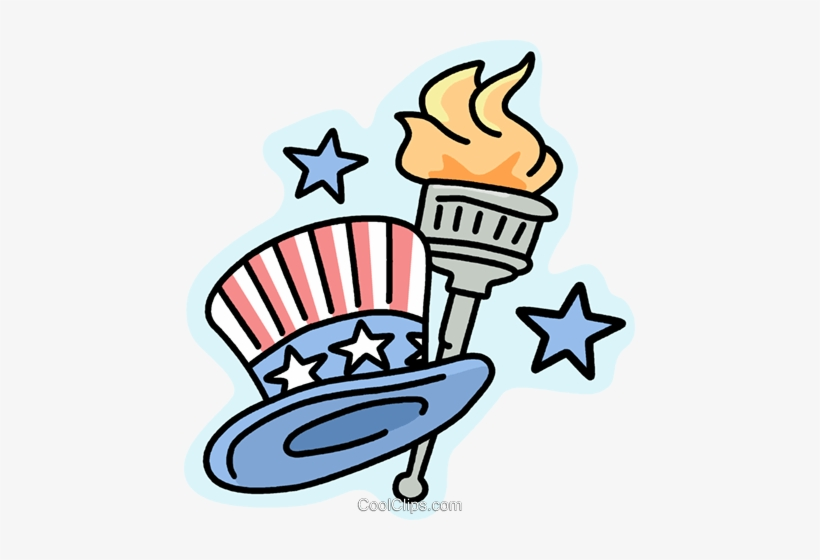 Uncle Sam S Hat And Torch Royalty Free Vector Clip America The Beautiful Clip Art 451x480 Png Download Pngkit