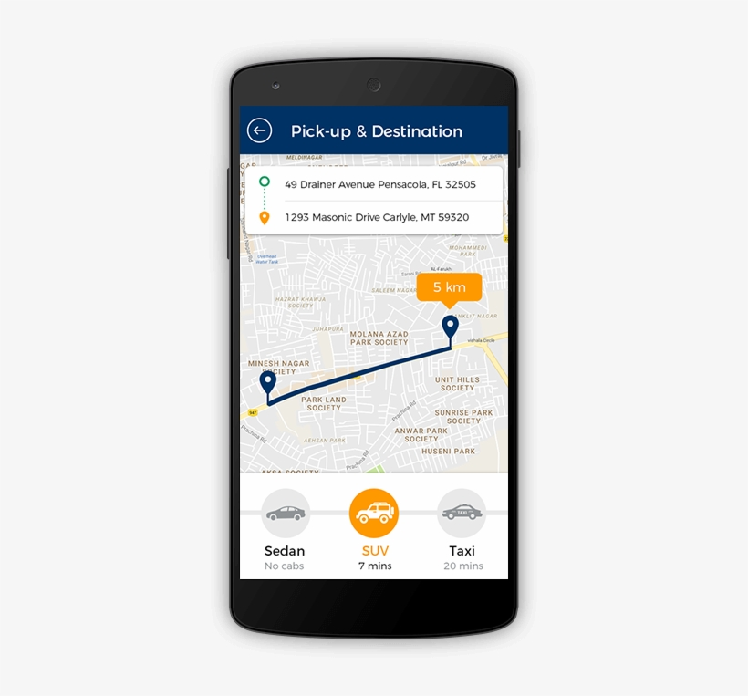 The Uber Clone Script Provides With An Option Of Selecting