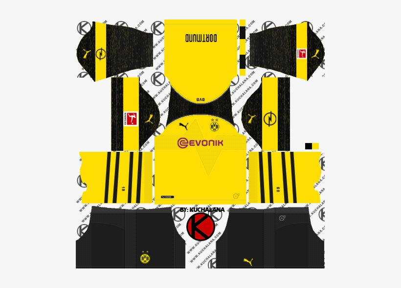 arrives 88c72 e3c65 Borussia Dortmund 2018/19 Kit - Dream League Soccer Kit ...