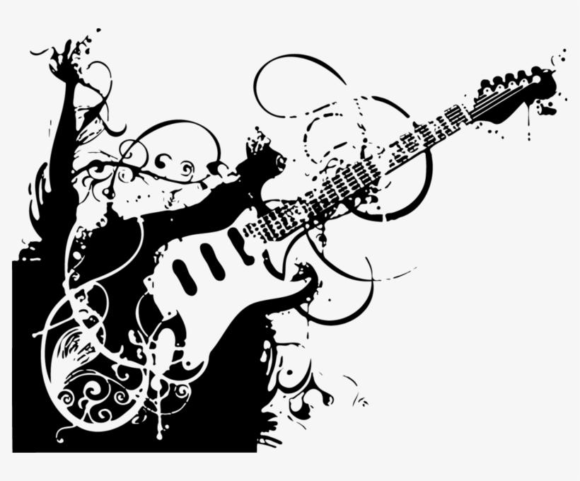 Share This Image Guitarra Em Preto E Branco 785x600 Png