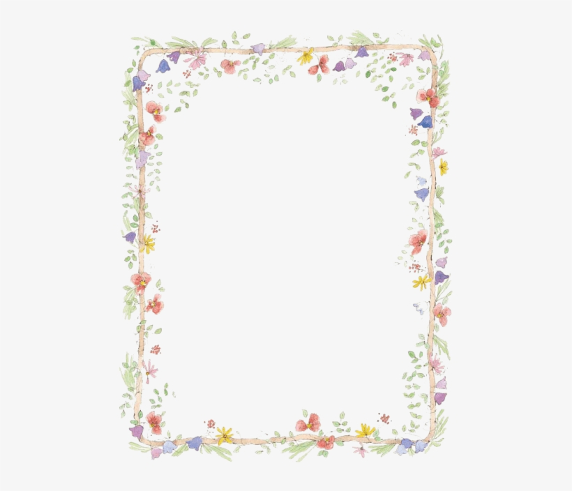 Free Png Flowers Borders Download Png Png Images Transparent