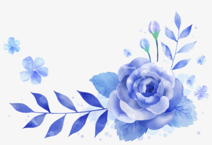 bloom flower blue frame border flowers white bouquet
