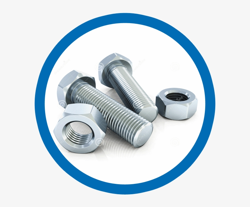 Nuts And Bolts Large - Ss 304 Nut Bolt - 600x600 PNG Download - PNGkit