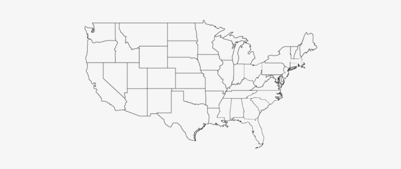 Blank Map Usa 50 States - 480x266 PNG Download - PNGkit on