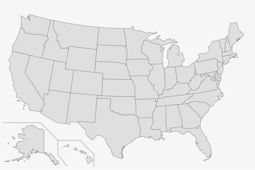 Us Map Transparent Background Grey Map Usa Png Hi - Black Map Of Us ...