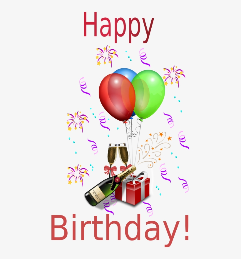 Free Birthday Clipart Animations Happy Birthday Wine And Balloons 469x800 Png Download Pngkit