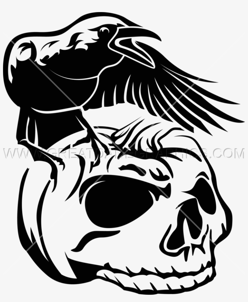 Crow Pumpkin Skull Crow And Skull Drawing 825x965 Png Download Pngkit