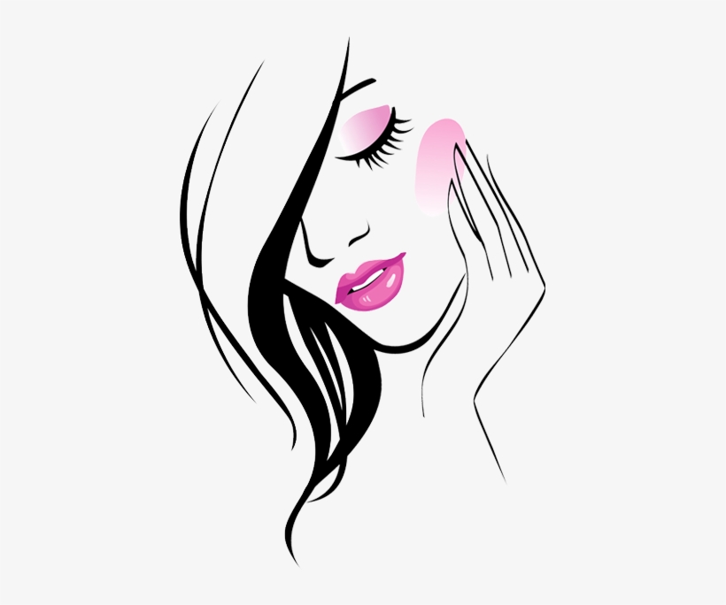 Blushers Delight Ladies Beauty Parlour Logo 413x604 Png Download Pngkit