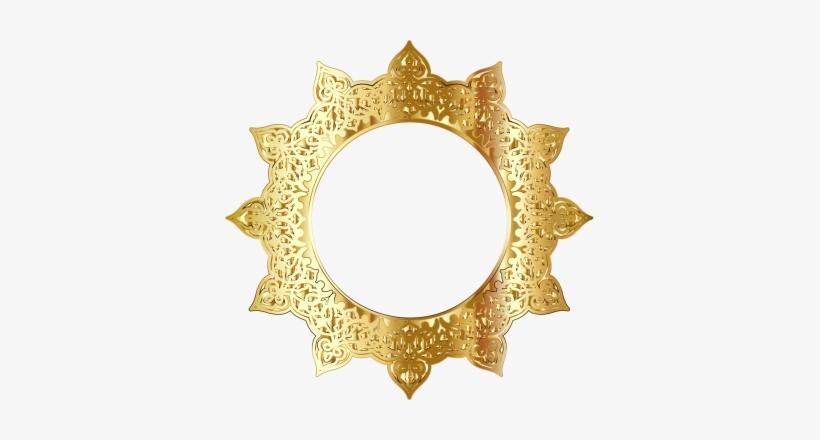 646ab64c279e Golden Round Frame Border Circle Frames - Gold Circle Frame Png ...