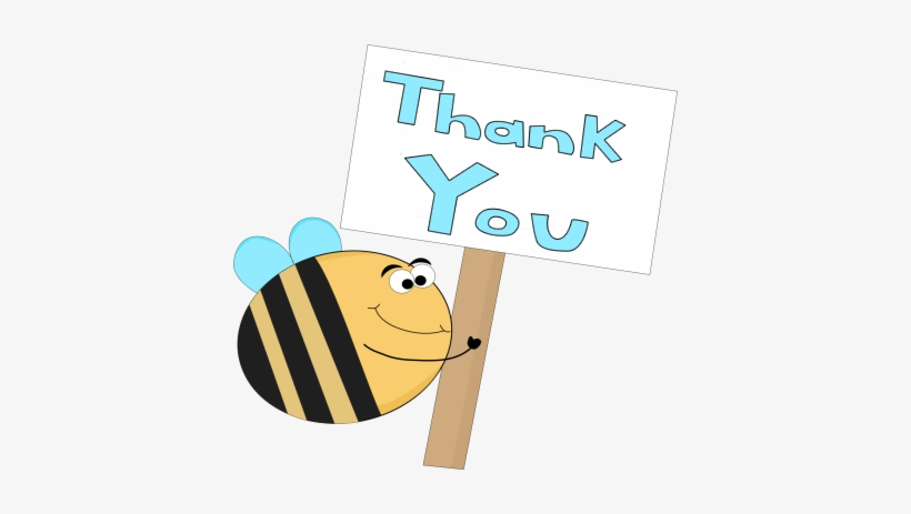 Bee Thank You Sign - Bee Thank You Gifs - 400x383 PNG Download - PNGkit