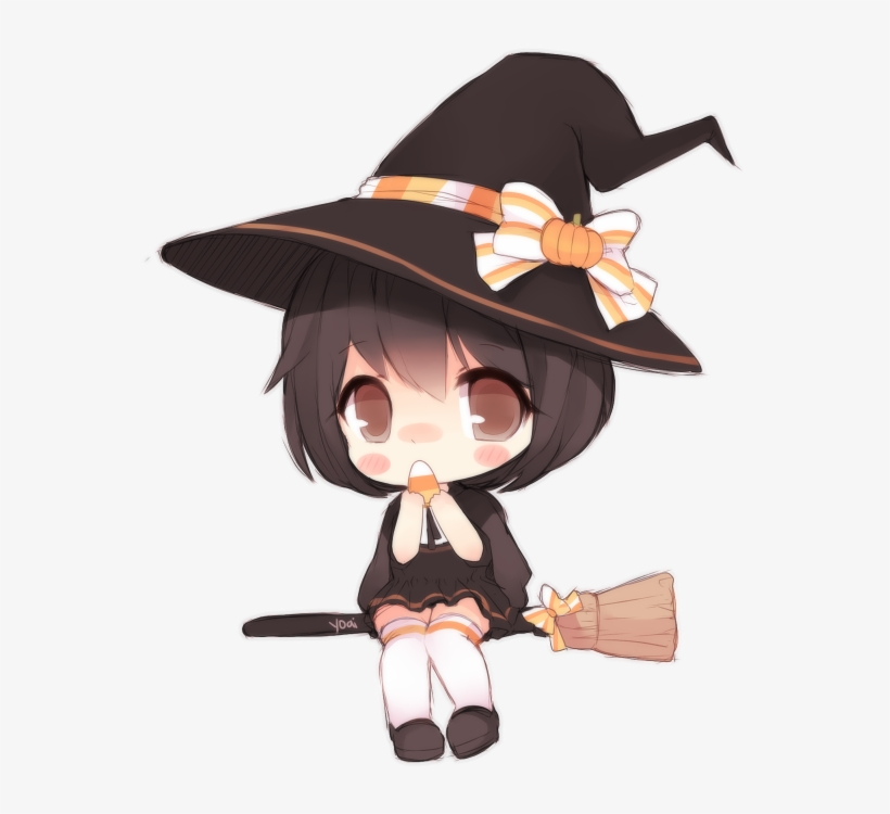 Image Happy Halloween Anime Chibi Transparent 625x719 Png Download Pngkit