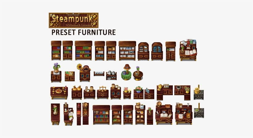 Rpg Maker Steampunk Tileset - 522x385 PNG Download - PNGkit