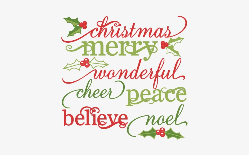 Christmas Words Set Cute Christmas Words Clipart Svg 432x432 Png Download Pngkit